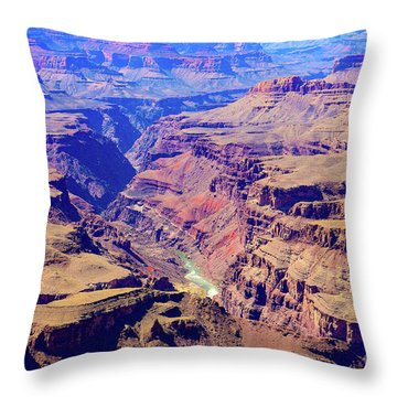 Grand Haze Canyon Throw Pillow