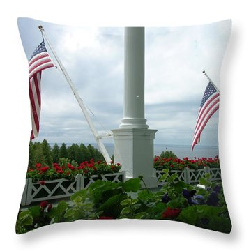 Grand Hotel Flags Throw Pillow