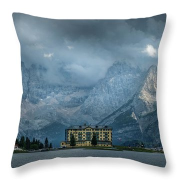 Grand Hotel Misurina Throw Pillow