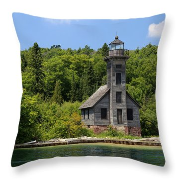 Grand Island Lighthouse 4 Throw Pillow by Mary Bedy