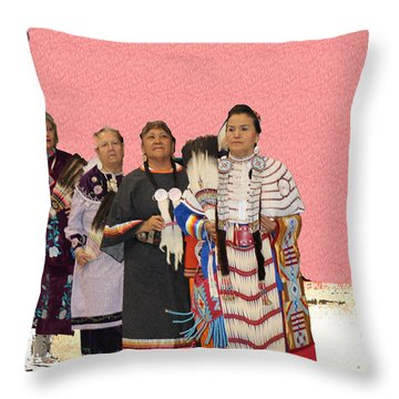 Grand Ladies Enter Throw Pillow