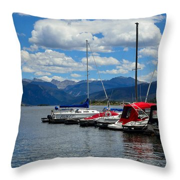 Grand Lake And Indian Peaks Wilderness Throw Pillow