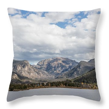 Throw Pillow featuring the photograph Grand Lake -- Largest Body Of Water In Colorado by Carol M Highsmith