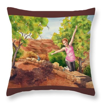 Grand Leap Throw Pillow