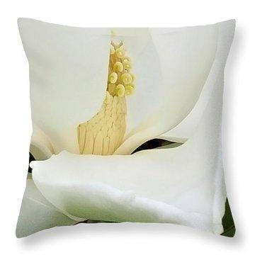 Grand Magnolia Throw Pillow