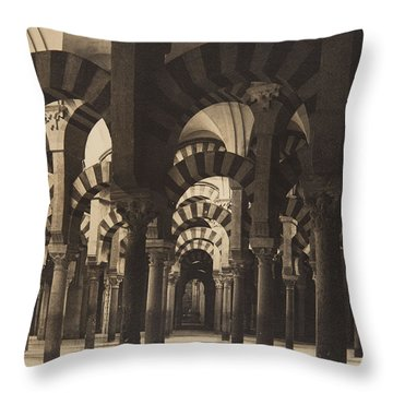 Grand Mosque Cordoba Throw Pillow by Claudi Carbonell