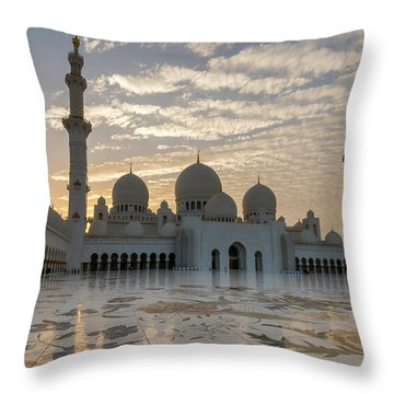 Grand Mosque Sunset Throw Pillow