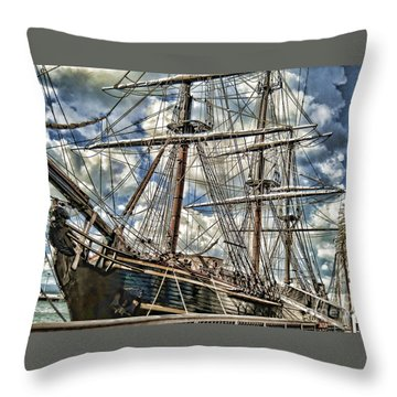 Throw Pillow featuring the photograph Grand Old Sailing Ship by Roberta Byram