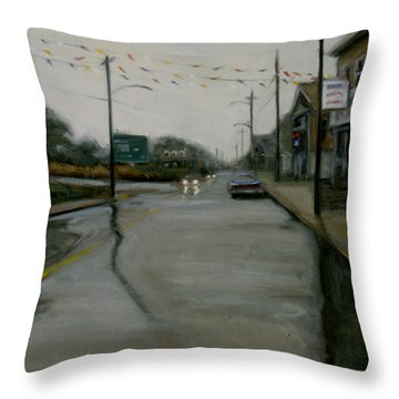 Grand Opening Throw Pillow by Sarah Yuster