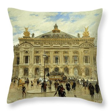 Grand Opera House, Paris Throw Pillow