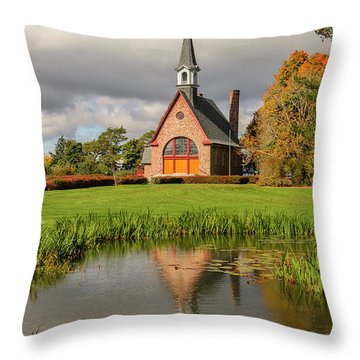 Grand-pre National Historic Site 01 Throw Pillow by Ken Morris