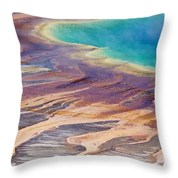 Grand Prismatic Spring 2 Throw Pillow