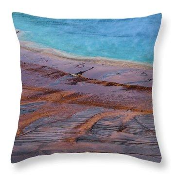 Grand Prismatic Spring Detail Throw Pillow