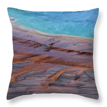 Grand Prismatic Spring Detail Throw Pillow
