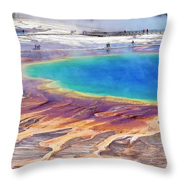 Grand Prismatic Spring Throw Pillow