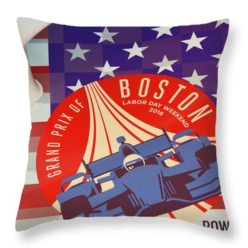 Grand Prix Of Boston Throw Pillow