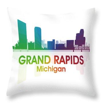 Grand Rapids Mi 1 Squared Throw Pillow