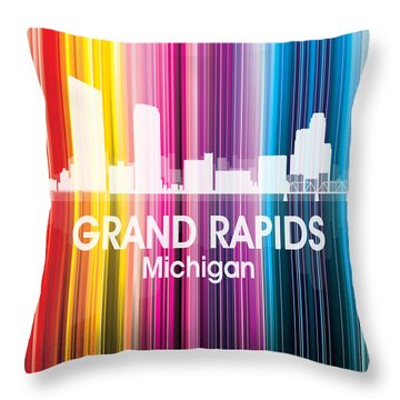 Grand Rapids Mi 2 Squared Throw Pillow