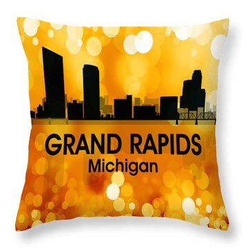 Grand Rapids Mi 3 Squared Throw Pillow