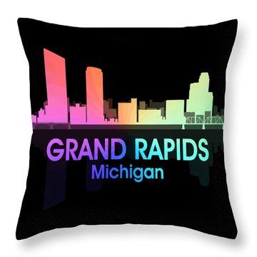 Grand Rapids Mi 5 Squared Throw Pillow