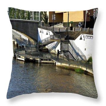 Grand River Boardwalk Throw Pillow