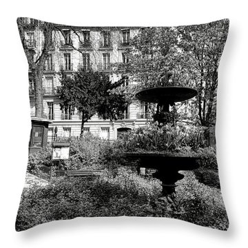 Grand Standing Throw Pillow by Olivier Le Queinec