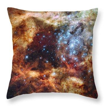 Grand Star Forming - A  Stellar Nursery Throw Pillow