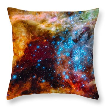 Grand Star-forming Region Throw Pillow by Marco Oliveira