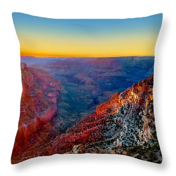 Grand Sunset Throw Pillow
