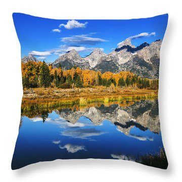 Grand Teton Autumn Beauty Throw Pillow