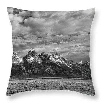 Grand Teton Majesty Throw Pillow by Sandra Bronstein