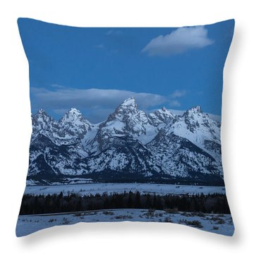 Grand Teton National Park Sunrise Throw Pillow