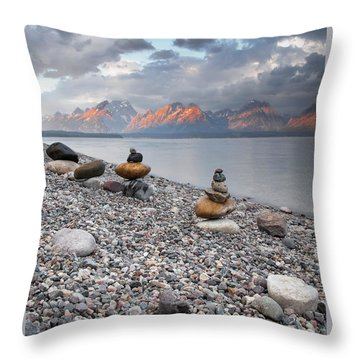 Throw Pillow featuring the photograph Grand Teton National Park - Zen by Jo Ann Tomaselli