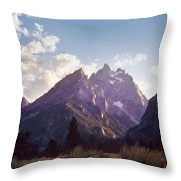 Grand Teton Throw Pillow
