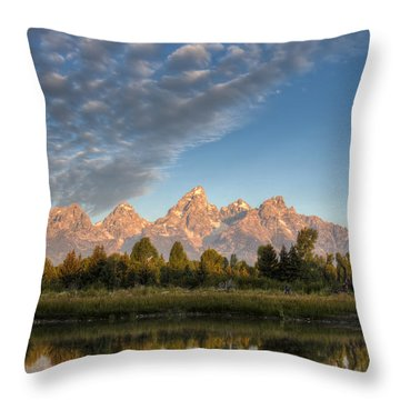 Grand Teton Sunrise Jackson Hole Wy Throw Pillow