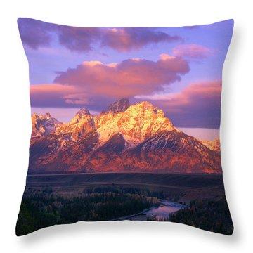 Grand Teton Sunrise Throw Pillow