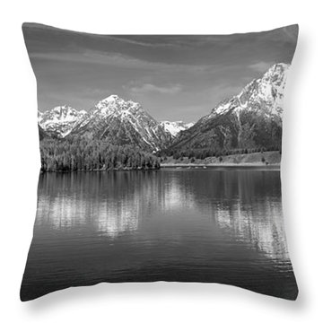 Grand Teton Tranquility Throw Pillow