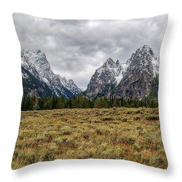 Grand Tetons  8b7692h Throw Pillow