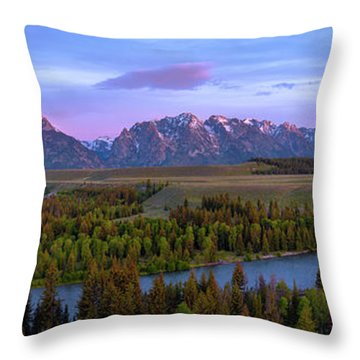 Grand Tetons Throw Pillow by Chad Dutson
