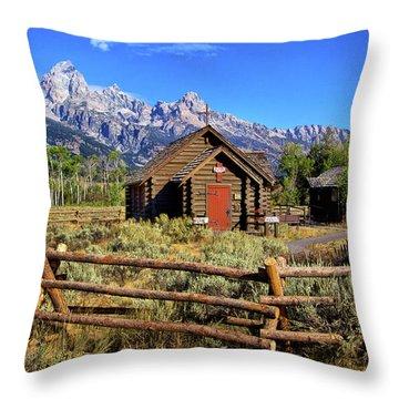 Grand Tetons Chapel Throw Pillow
