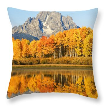 Grand Tetons In Autumn 2 Throw Pillow by Ron Dahlquist - Printscapes