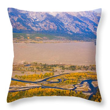 Grand Tetons Views Throw Pillow by James BO  Insogna