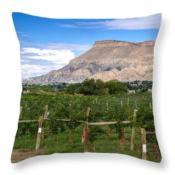 Grand Valley Vineyards Throw Pillow