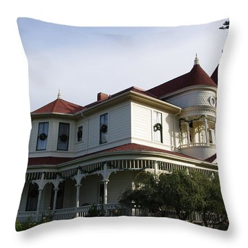Grand Victorian Mansion  Throw Pillow