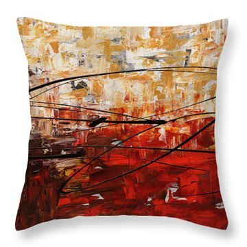 Throw Pillow featuring the painting Grand Vision by Carmen Guedez