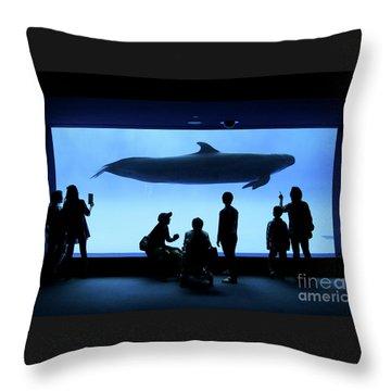 Grand Whale Throw Pillow