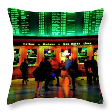 Throw Pillow featuring the photograph Grand Central Station Nyc by Tom Jelen