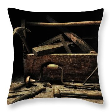 Throw Pillow featuring the photograph Granddad's Tools by Mark Fuller