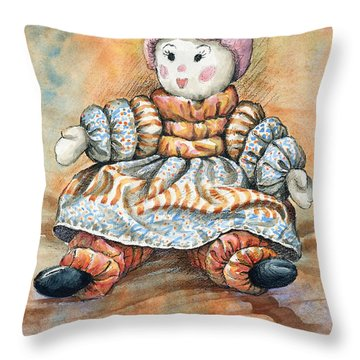 Granddaughters Doll Throw Pillow