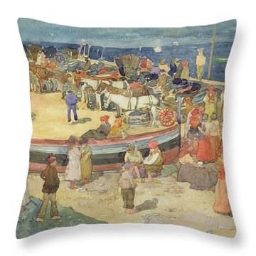 Grande Marina  Capri Throw Pillow by Maurice Brazil Prendergast